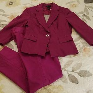 White House Black Market  magenta suit